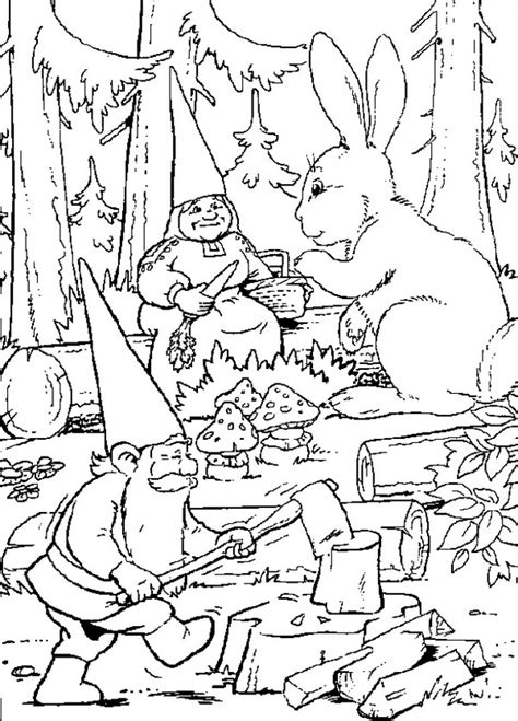 Kleurplaat Rien Poortvieg by Theme Gnomes And Fairies Coloring Pages Juf Milou