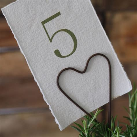 Rustic Heart Table Number Holder The Wedding Of My Dreams