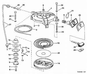 Evinrude Rewind Starter Parts For 1998 25hp Be25balecm