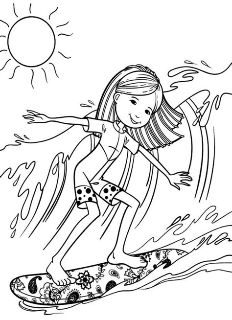 surf coloring pages black  white coloring home