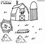 Farm Coloring Pages Print Colorings sketch template