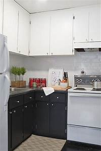 black and white kitchen contemporary kitchen With best brand of paint for kitchen cabinets with big wall art ideas