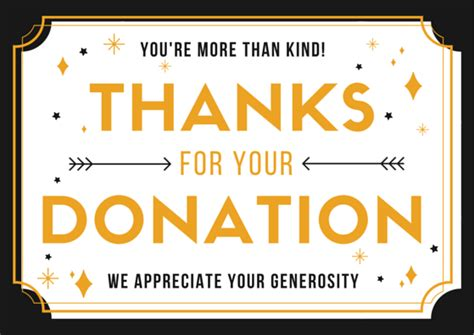 donation   letter samples  printable cards