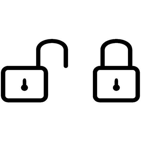 cuisine dessin animé sticker cadenas ouvert et fermé