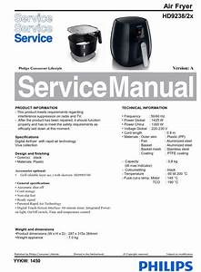 Philips Airfryer Hd9238  2x Series  Service Manual Service Manual Free Download