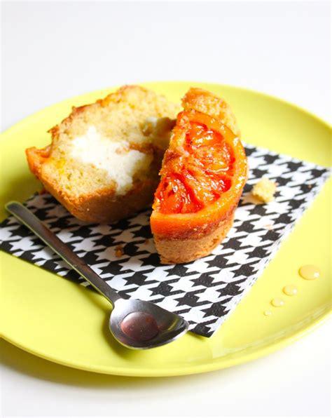 amalgame cuisine muffins orange sanguine avec un coeur dedans amalgame
