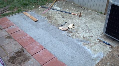 patio paver base layer