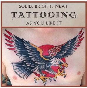 American traditional eagle tattoo. Sailor Jerry inspired ...
