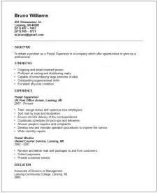 sle post office worker resume sle resume zip sle resume