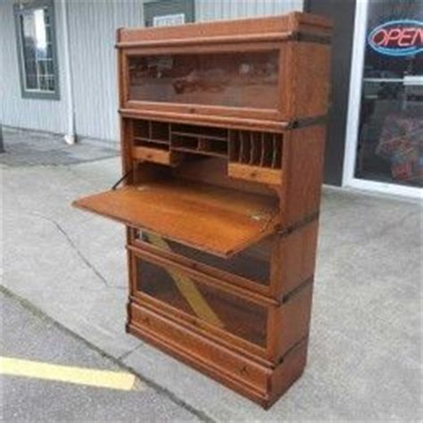 Bookcase With Drop Desk by Antiques By Design Barristers Bookcase Drop Front Desk