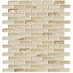 shop american olean delfino glass cornsilk glass mosaic indoor outdoor wall tile common 12 in