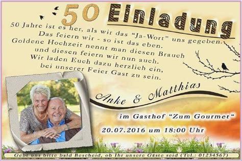 Einladung Goldene Hochzeit Spruche