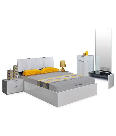 athome scoop solid wood king size bedroom set buy athome