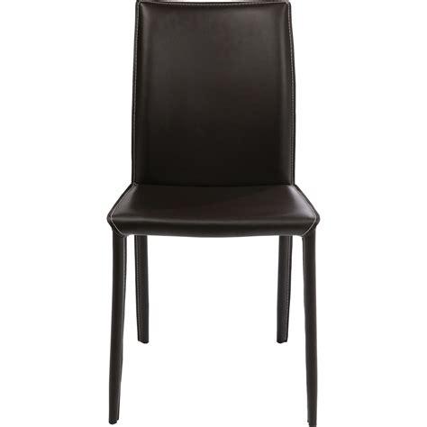 Chaise Cuir Design by Chaise Cuir Marron Kare Design