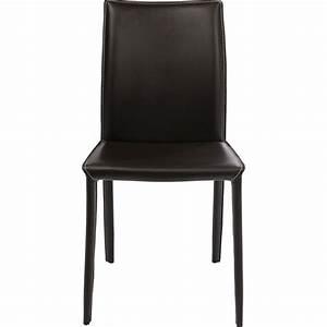 Chaise En Solde : chaise cuir marron milano kare design ~ Teatrodelosmanantiales.com Idées de Décoration