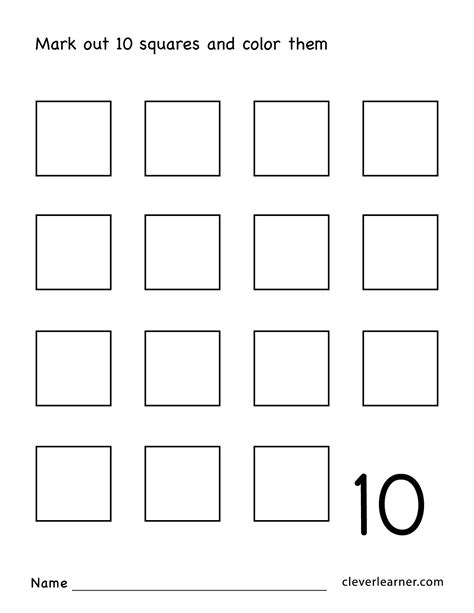 number ten writing counting and identification printable 584 | Number 10 preschool worksheets 07