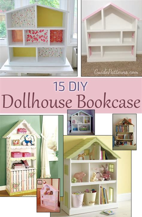 How To Build A Dollhouse Bookcase by 15 Diy Dollhouse Bookcase Plans Guide Patterns