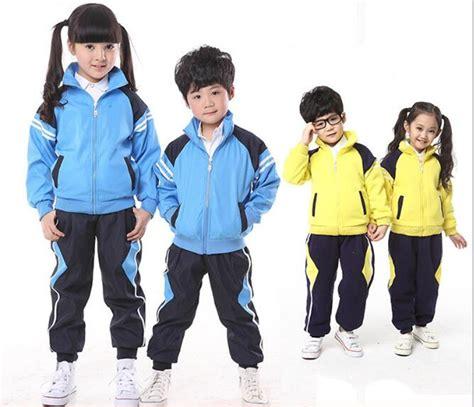 china fashion school uniform winter tracksuit  child