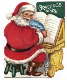Santa Claus Christmas Card Clip Art