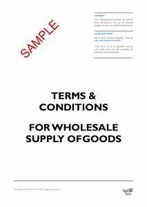 terms conditions for wholesale supply of goods template With terms and conditions template usa