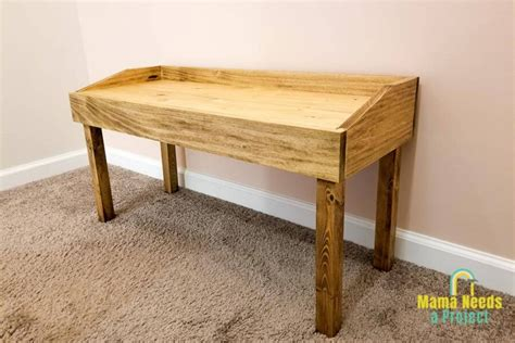 diy small modern bench woodworking plans mama