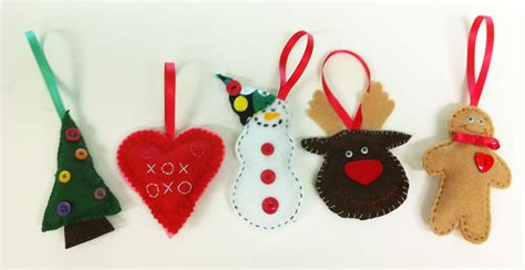 hand sew felt christmas decorations monday   lime
