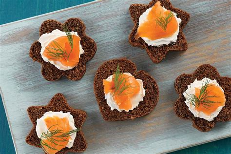 bread canape recipes canapé pumpernickel bread recipe king arthur flour