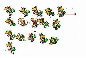 Baby Bowser And Yoshi Sprite Sheet by lexi-4 on DeviantArt