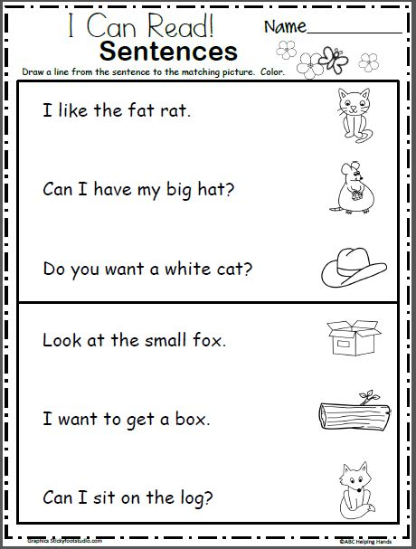 Use it to create your own fun learning activities for your students. Read and Match the Sentences - Beginning Readers ...