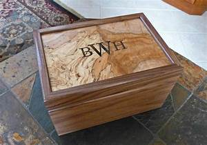Hand Crafted Custom Humidor- Walnut/Spalted Maple by