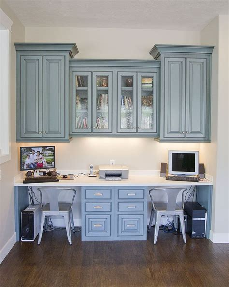 Built In Desk Cabinets by Hanging Cabinets Built In Desk For The Study The