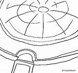 Pantheon Dome Coloring Coloringcrew Colorear Rome sketch template