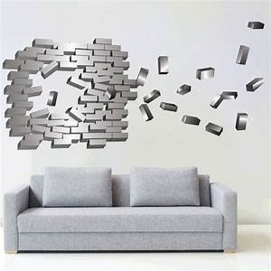 Abstract brick wall decal modern stickers primedecals
