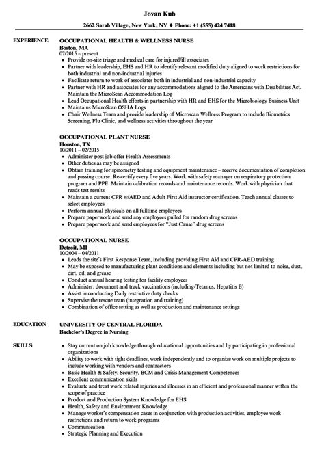 ot resume sample july