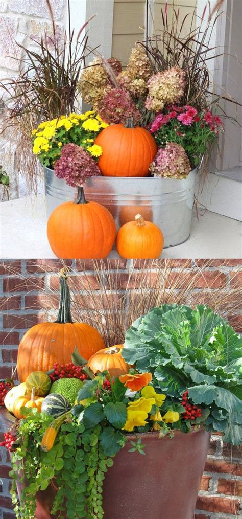 Outdoor Flower Decorations by 22 Beautiful Fall Planters For Easy Outdoor Fall