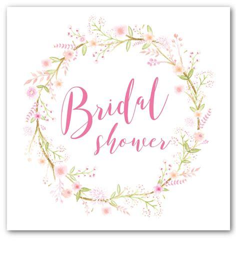 pink wreath bridal shower invitation love jk