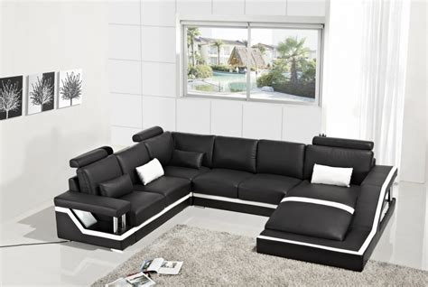 divani casa t271 modern bonded leather sectional sofa