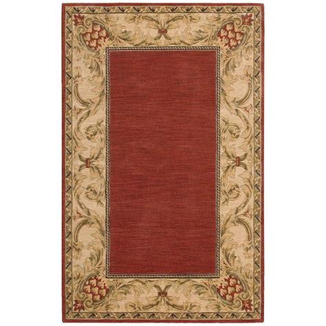 overstock area rugs nourison overstock vallencierre brick 3 ft 6 in x 5 ft