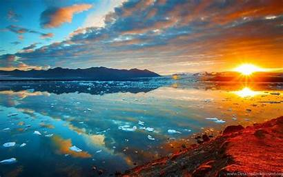 Lagoon Iceland Wallpapers Desktop Background Backgrounds Widescreen