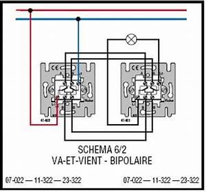 Schema Electrique Va Et Vient 3 Interrupteurs : bipolaire va et viens sur circuit mixte ~ Medecine-chirurgie-esthetiques.com Avis de Voitures