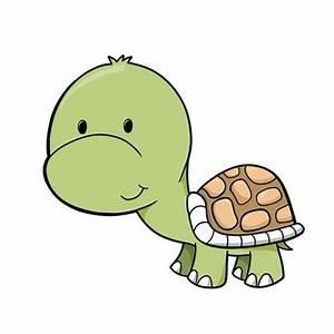 Cute Baby Turtle Cartoon With Big Eyes