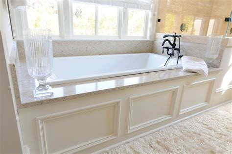 Large Drop In Tub traditional master bathroom with white underscore