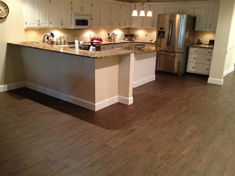 porcelain tile in kitchen porcelain plank wood look tile installations ta florida 4338