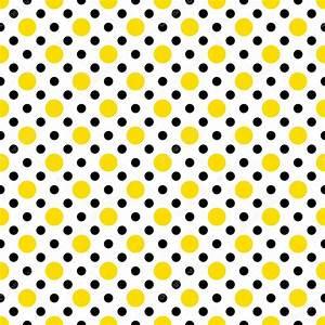 Yellow & Black Polka Dots on White — Stock Photo ...