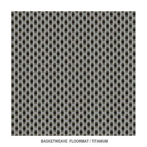 basketweave titanium floormat by chilewich 26 x 72