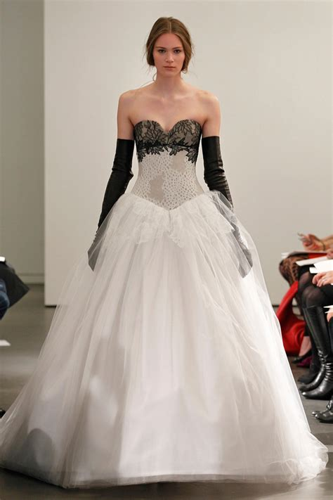 vera wangs monochrome  bridal collection chic