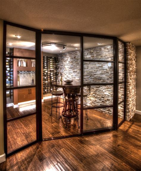 wine room glass doors