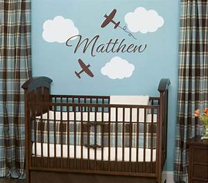 Airplane wall decals cloud and personalized by
