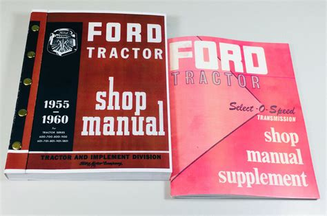 ford   series tractor service repair shop manual