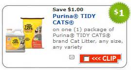cat litter coupons target deal tidy cat litter only 77 cents common sense